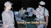 Scene from Soldier Mom production