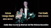 Fred Stawitz and Dolores Colunga-Stawitz receiving award from American Gulf War Veterans Association